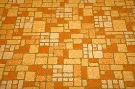 image of yellowing linoleum floor